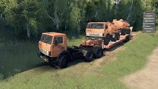Spin Tires 03.03.16 Обзор мода Kamaz-55111