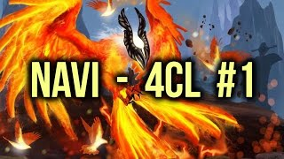 NaVi vs 4CL Highlights Champions League Game 1 Dota 2
