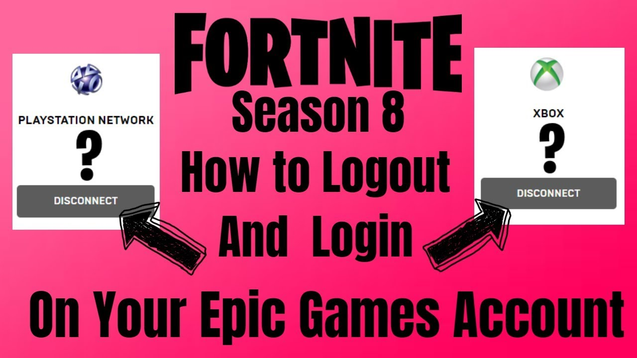 FORTNITE How to logout and login on your epic games ...