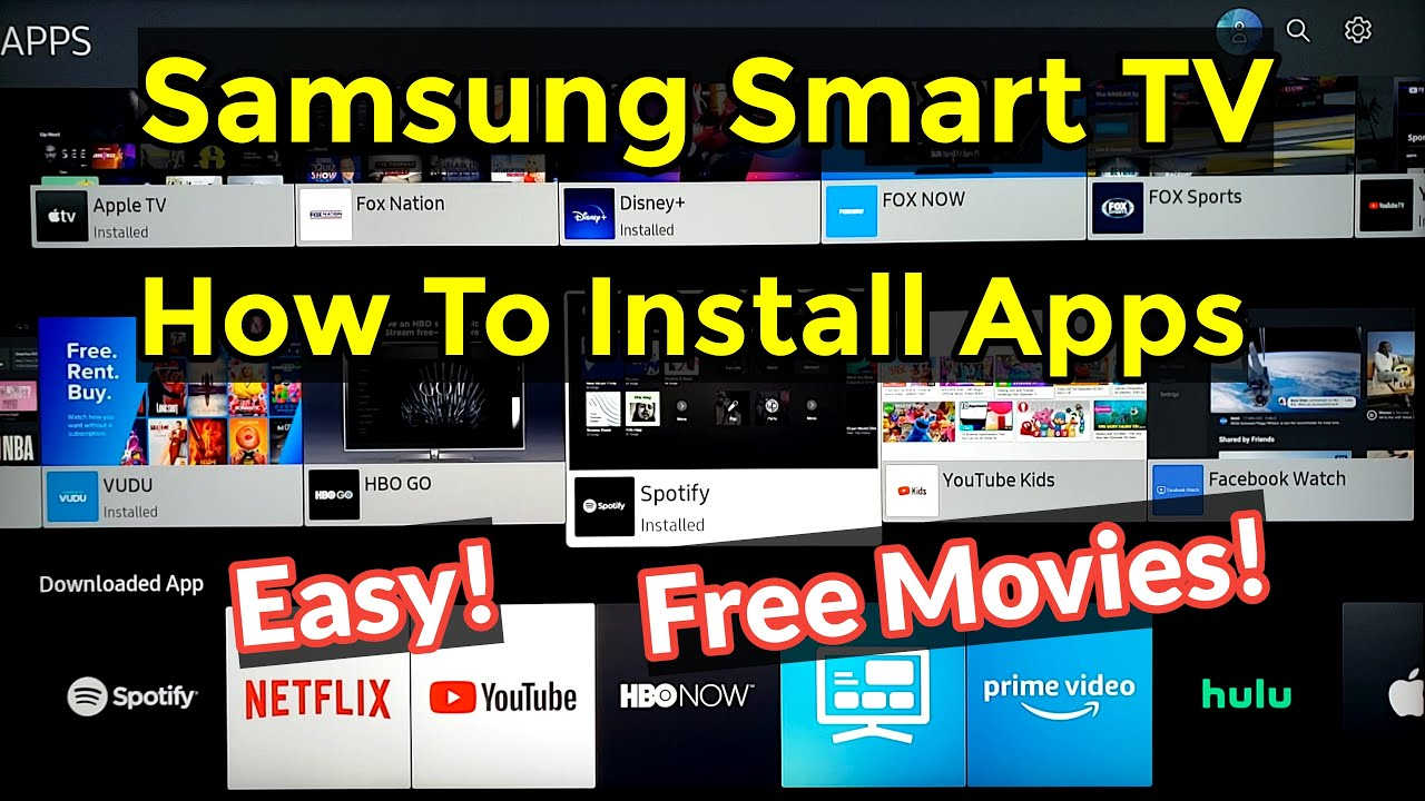How To Easily Install Download Apps On Samsung Ru7100 Smart Tv 4k In 2020 Free Movies Tv Shows Youtube