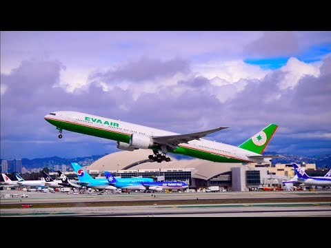 LAX Plane Spotting HD 2018 | Cloudy and Rain| Lengthy Compilation March