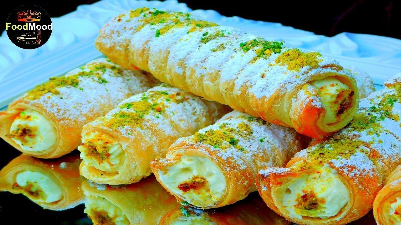 EID Cream Rolls//طرز تهیه کریم رول به روش آشپزی بهارستان