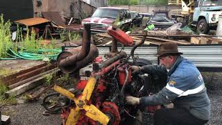 Работа двигателя смд-14 ( заводим на коленке )