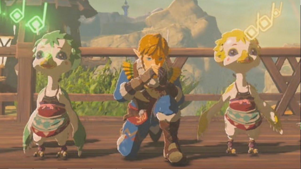 Zelda Breath Of The Wild Rito Village Song Birdies Version