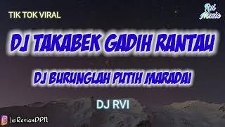 DJ BURUNG LAH PUTIH MARADAI | DJ TAKABEK GADIH RANTAU FULL BASS TIK TOK #DJRvi