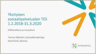 Yksityisen sosiaalipalvelualan TES 1.2.2018-31.3.2020