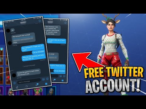I Got A FREE Fortnite Account On Twitter And Got This...