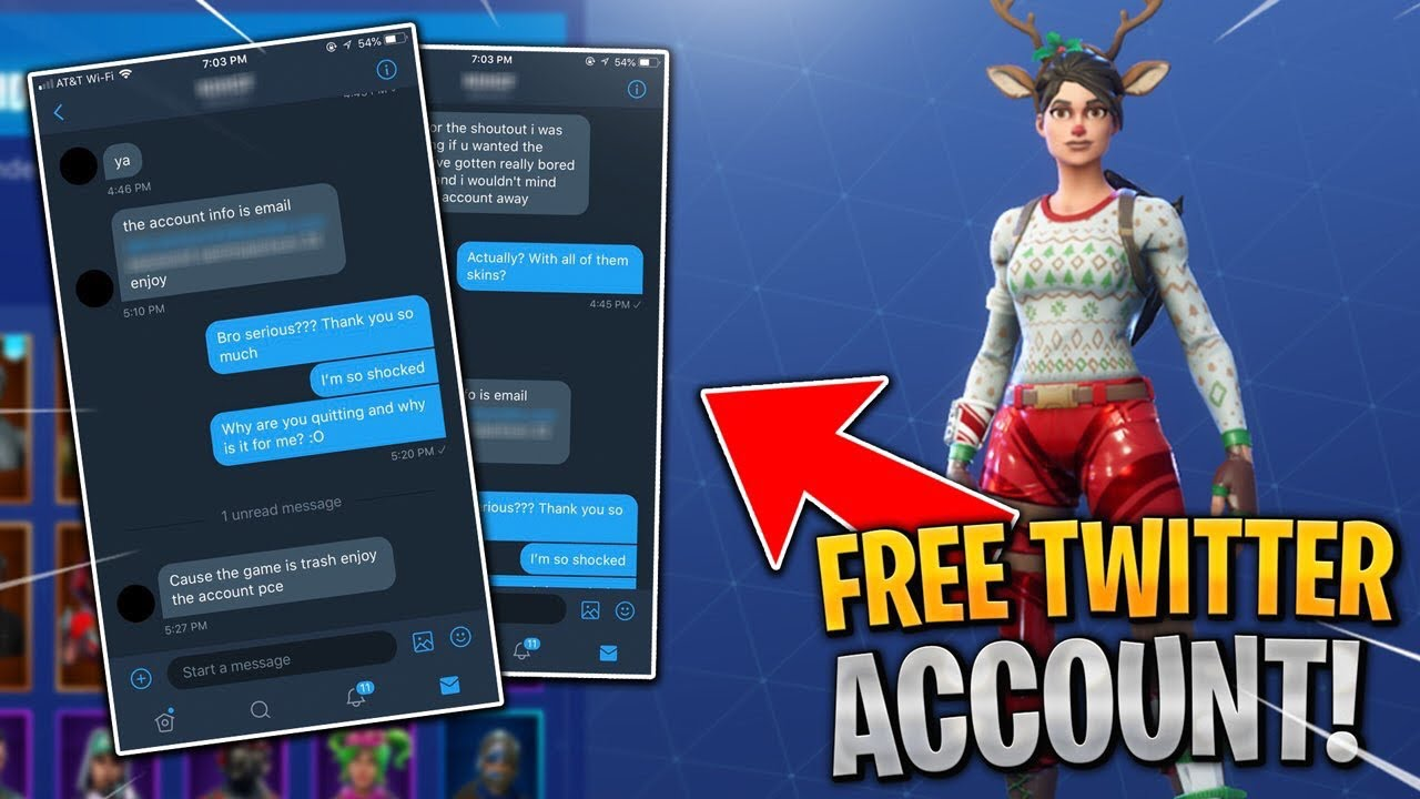 I got a FREE Fortnite Account on Twitter and got this