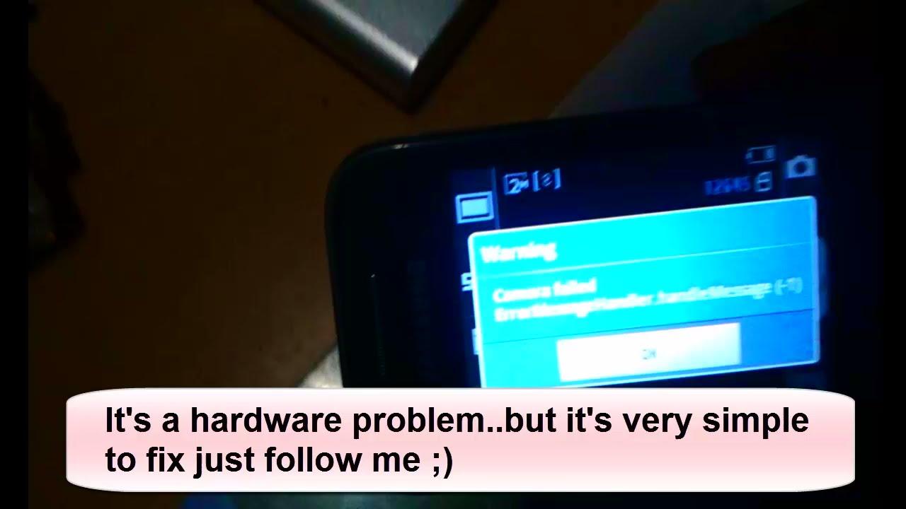 How to fix camera failed error message handler. handlemessage (-1 ...