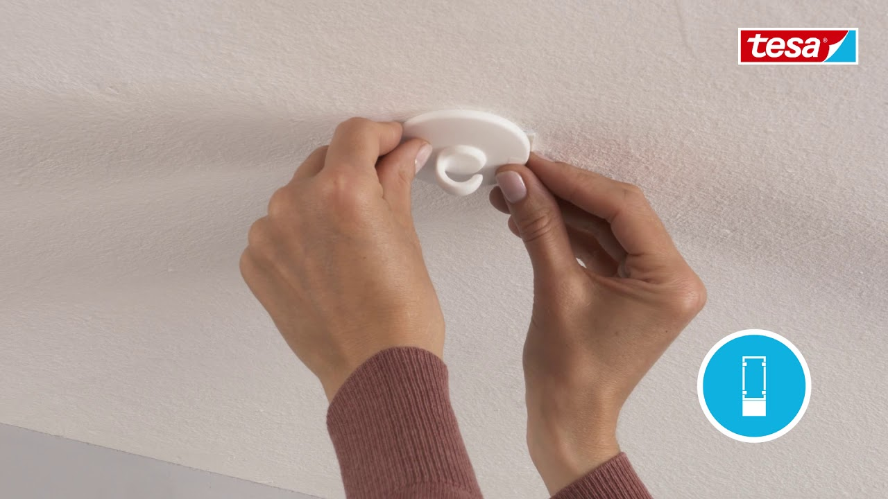 Tesa Crochet Plafond Pour Papier Peint Plâtre 05kg Suspendre Vos Mobiles Sans Percer