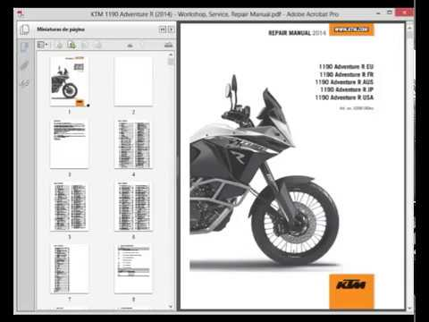 KTM 1190 Adventure R (2014) - Service Manual - Wiring Diagram - YouTube