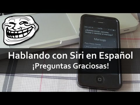 Hablando con Siri en Espa�ol | �PREGUNTAS GRACIOSAS! (iOS 7)