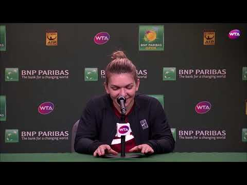 2018 Indian Wells Day 7 | Simona Halep Press Conference