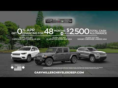 It's Jeep Freedom Days At Gary Miller Chrysler Dodge Jeep RAM