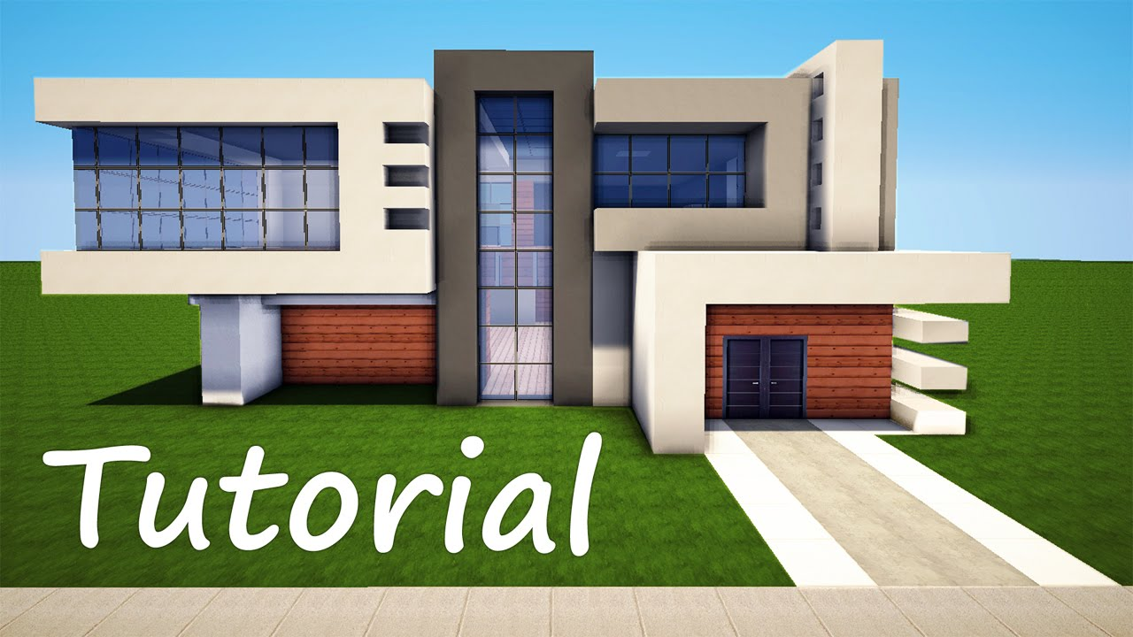 Minecraft how to build a modern house best mansion 2016 tutorial how to - Modern house minecraft ...