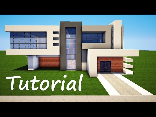 Minecraft how to build a modern house best mansion 2016 for Modern house tutorial