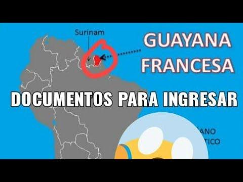 Documentos Para Entrar En La (guayana Francesa )