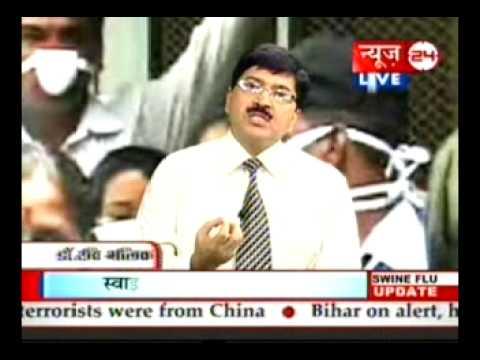 Dr. Ravi Malik CMD Malik Radix Healthcare, Nirman Vihar, Delhi commenting on Swine Flu at News-24