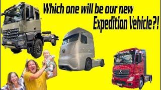 Overland Vehicle chassis pickup Arocs 4x4 2033 ► | Mercedes Benz Future Truck Werk Wörth am Rhein