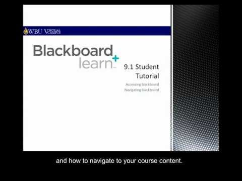 Introduction to Blackboard - Wayland Baptist University (for Students)