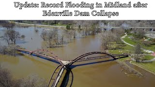 Update: Record Flooding in Midland Aerial after Edenville Dam Collapse