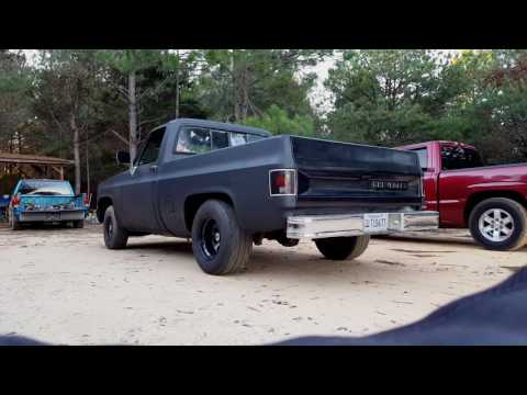 85 C10 350 With 2.5 In Dynomax Race Bullets Idle And Rev