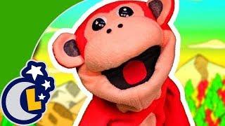 Los Números en Inglés con El Mono Sílabo . Inglés para Niños . Lunacreciente