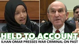 Ilhan Omar Makes War Criminal Answer For Past Offences