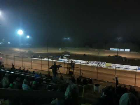 Tony Stewart runs heat laps at Southern Raceway in Milton, FL