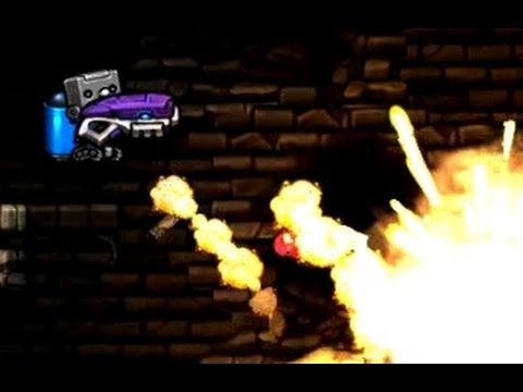 A robot with a plasma gun and a jetpack - Spelunky Daily, August 21st 2013