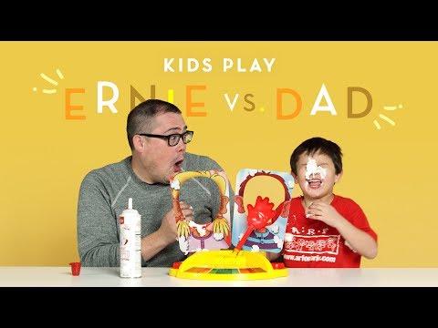 Ernie vs. Dad | Kids Play | HiHo