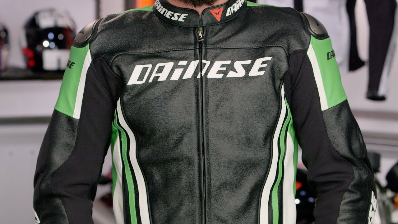Dainese Replica 2015 Leather Jacket Review at RevZilla.com - YouTube
