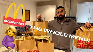 I BOUGHT EVERYTHING FROM THE MCDONALDS MENU