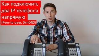 Как подключить два IP телефона напрямую без IP-АТС (Peer-to-peer, DynDNS)