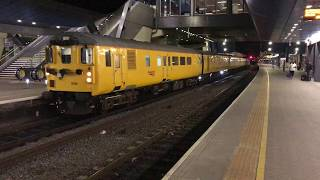 Colas Rail Test Train DBSO & Class 37175 depart Reading *HD*