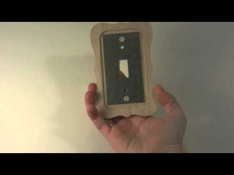 Unfinished Colonial Maple single toggle wood switch plate