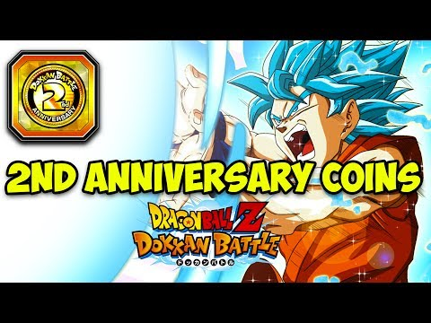 WHAT TO USE YOUR 2 YEAR ANNIVERSARY COINS ON! DBZ DOKKAN BATTLE!