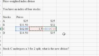 Price Weighted New Divisor
