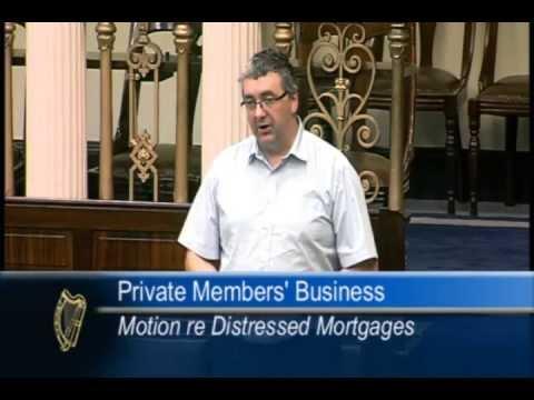 Thomas speaks on motion on distressed mortgages