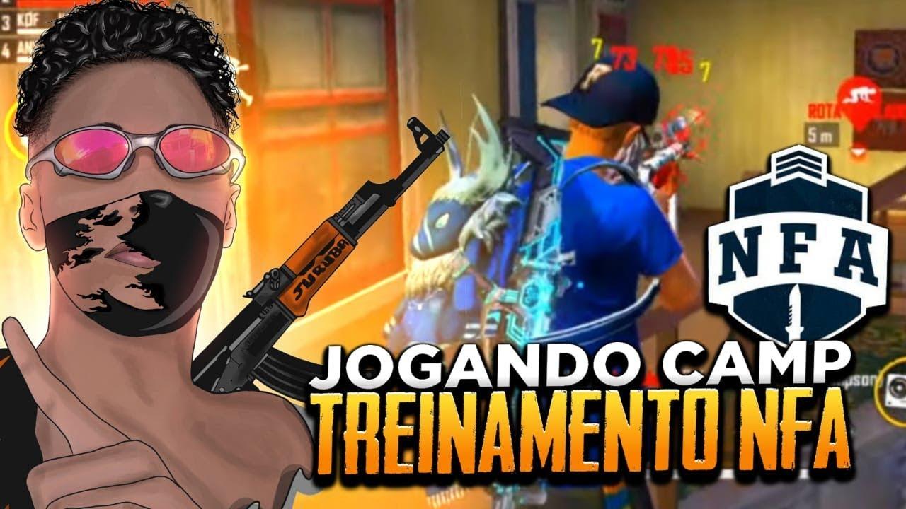 🔥FREE FIRE - AO VIVO 🔥JOGANDO CAMP + TREINANDO PRA NFA🔥LIVE ON🔥#18KINSCRITOS #KOF