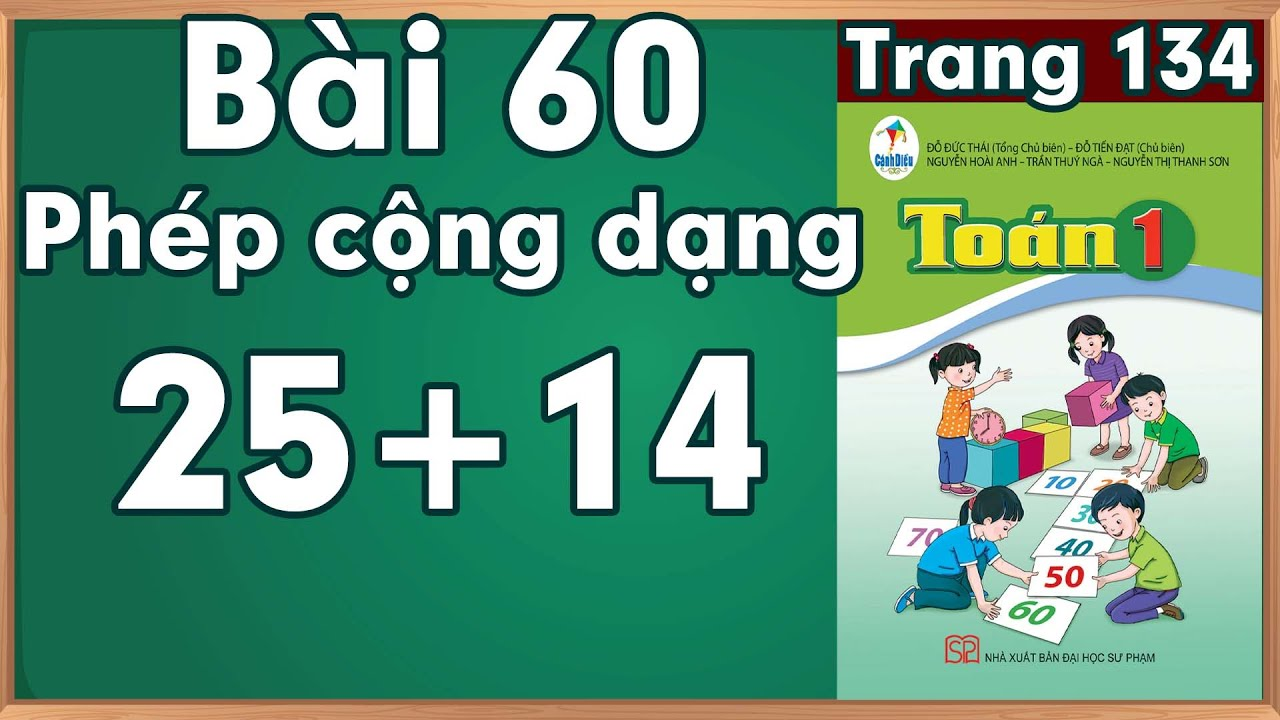 Học toán lớp 1| Toán cộng trừ lớp 1 |Phép cộng dạng 25 + 14