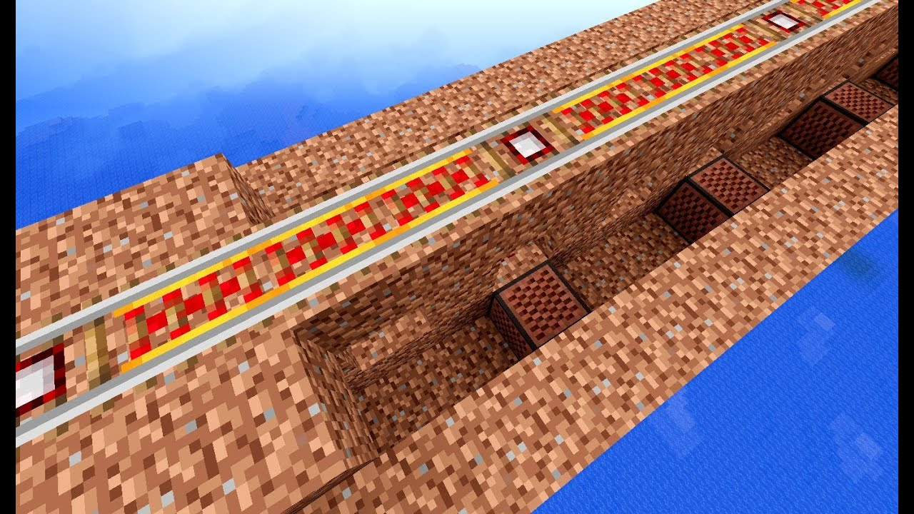 Making Of Note Block Rail Tracks Youtube Minecraft How Should I Design A Powered Station Arqade