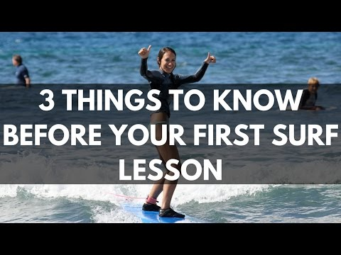 3 Things to know before your first surf lesson