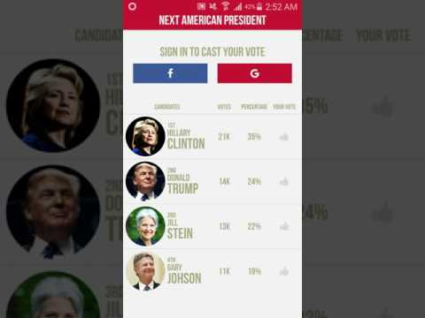 Next American President (US Voting App)