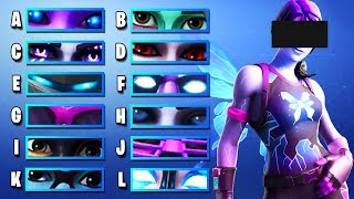 GUESS THE EYES OF THE SKIN - VERY HARD | Ultimate Fortnite Quiz #7