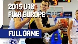 Czech Republic v Germany - Group E - Full Game - 2015 U18 European Championship Men
