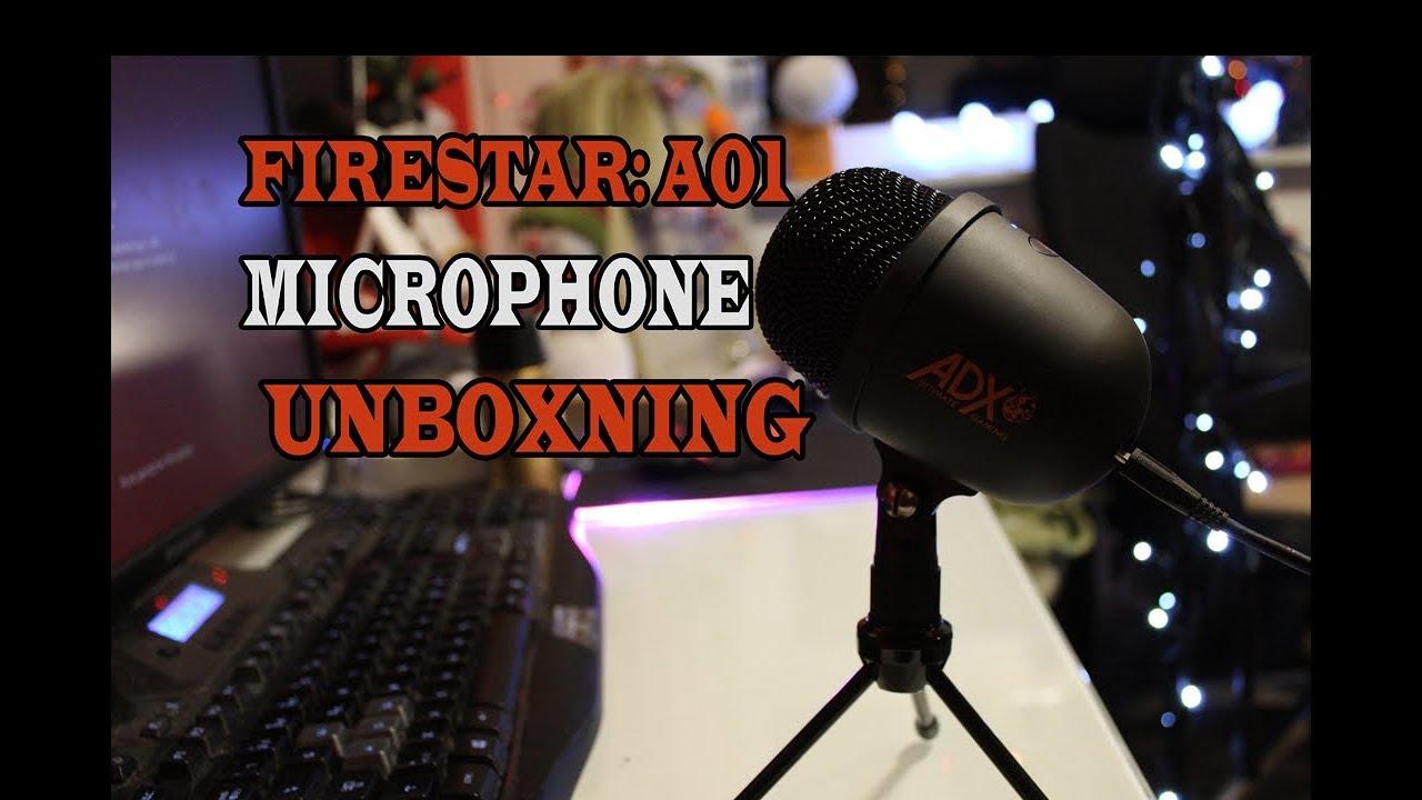 Unboxning FIRESTAR: A10 Microphone