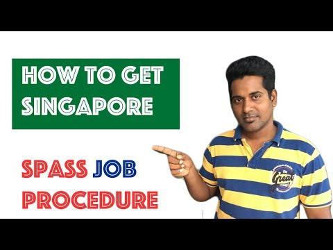 Singapore Spass job procedure   சிங்கப்பூர் வேலை விசா எப்படி பெறுவது