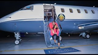OBO! Davido Shows Off His Private Jet As He Takes First Flight With His Beautiful Chioma