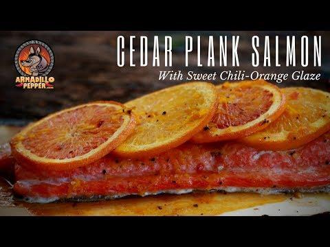 Cedar Plank Salmon On Pit Boss Pellet Grill